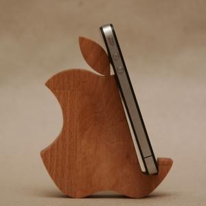 2 DB Mobiltartó nemcsak iphone-osoknak, Táska, Táska, Divat & Szépség, Pénztárca, tok, tárca, Lakberendezés, Otthon & lakás, Tárolóeszköz, Famegmunkálás, Ennek a polcra, éjjeli szekrényre, kisasztalra helyezhető, alma formájú mobiltartónak nagy hasznát v..., Meska
