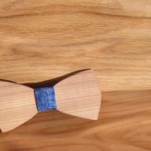 Csokornyakkendő fából - Meska.hu