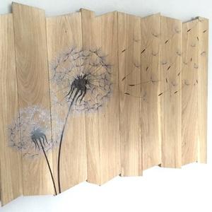 Falikép fából pitypanggal - otthon & lakás - dekoráció - kép & falikép - Meska.hu