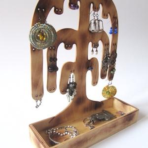 Ékszertartó fa - 20 pár fülbevalónak, gyűrűknek - ékszer - ékszertartó - ékszertartó állvány - Meska.hu