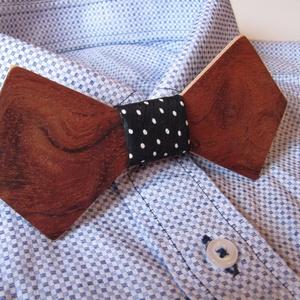 Fa csokornyakkendő mahagóni színben (FromWood) - Meska.hu