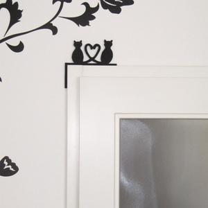 Összefonódó farkú cicás dekoráció - otthon & lakás - dekoráció - falra akasztható dekor - Meska.hu