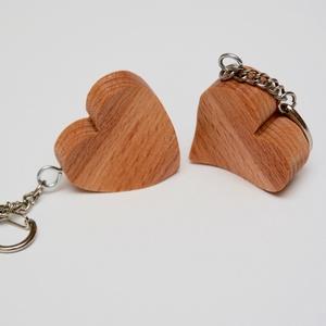 Szív alakú kulcstartó pár - Meska.hu