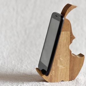 Mobiltartó akár iphone-osoknak is TÖLGY, Táska & Tok, Laptop & Tablettartó, Ebook & Tablet tok, Famegmunkálás, Meska