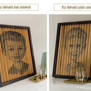 2 kép 1 képben tölgyfából (fali dekoráció), Otthon & lakás, Lakberendezés, Falikép, Famegmunkálás, 2 kép 1 képben!\n\nEgy igazán különleges vizuális illúzió, dekoráció otthonába, irodájába.\n\nEbben a tö..., Meska