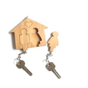 Házikó formájú kulcstartó  - táska & tok - kulcstartó & táskadísz - kulcstartó - Meska.hu