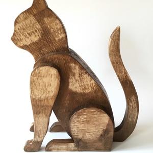 Deszkából készült macska szobor (FromWood) - Meska.hu