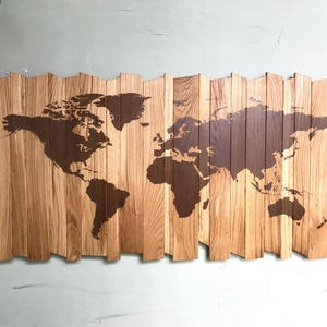 Falikép fából világtérképpel - Meska.hu