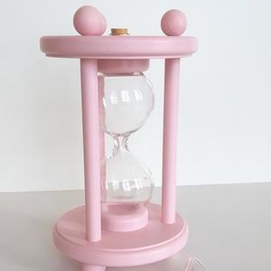 Rózsaszirom színű homokóra bükkfából, esküvőre, Nászajándék, Emlék & Ajándék, Esküvő, Famegmunkálás, Egy különleges esküvői kellék, maradandó emlék, ajándék az igaz szerelmeseknek, ez a homokkal tölthe..., Meska