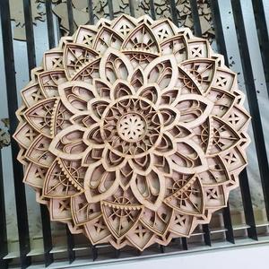 Mandala fa falikép, Otthon & Lakás, Dekoráció, Mandala, Famegmunkálás, Meska