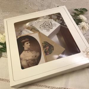Császári csemege csomag, Élelmiszer, Ajándék gasztro kosár, Kényeztető elegancia, akár Sissi idejében  Tartalom:  1 db Virágkonyha c. könyv  1 üveg rózsaszörp  ..., Meska