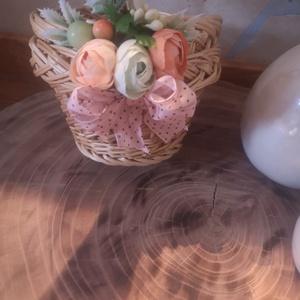 Virágos kiskosát, Táska & Tok, Kosár, Mindenmás, Virágkötés, Sziasztok\nIndúlhat a bevásárlás anyával?\nIlyen kis cuki virágos kosárkával bisztos öröm lesz a vásár..., Meska