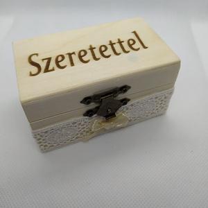 Szeretettel ajándékdoboz - Meska.hu