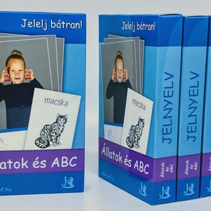 Jelnyelv oktatókártya - Állatok és ABC, Könyv, Papír írószer, Otthon & Lakás, Könyvkötés, Fotó, grafika, rajz, illusztráció, Mi a jelnyelv?\nA siketek anyanyelve. Nem hallanak, és mivel hang nélkül a kezüket használják a kommu..., Meska