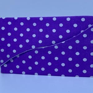 Papírzsepitartó, Zsebkendőtartó, Pénztárca & Más tok, Táska & Tok, Varrás, ***Leírás***\nPamutvászonból készítettem a papírzsepi tartót. Belsejébe közbélést vasaltam, majd fehé..., Meska