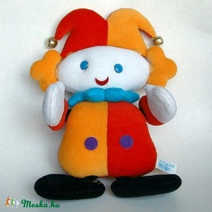Tépőzáras bohóc, Játék, Gyerek & játék, Játékfigura, Készségfejlesztő játék, Plüssállat, rongyjáték, Baba-és bábkészítés, Mókás, variálható figura tépőzár segítségével.\r\n25 x 28 cm, Meska