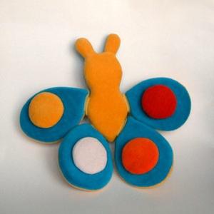 Tépőzáras pillangó, Játék, Gyerek & játék, Plüssállat, rongyjáték, Varrás, Variálható, piha-puha, mosható, kreatív játék. 3 éves kórtól ajánlott., Meska