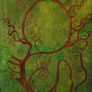 Mesefa, Falmatrica & Tapéta, Dekoráció, Otthon & Lakás, Festészet, Festett tárgyak, Elvarázsolt mese erdő falfestés - egyik kedvenc mesénk nyomán.\n Mérete kb 120x250\nKérhetsz a képpel ..., Meska