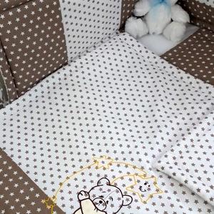 3 részes babaágynemű szett, Gyerek & játék, Baba-mama kellék, Gyerekszoba, Falvédő, takaró, Varrás, Natúr színek kedvelőinek készült ez az egyedi garnitúra.\nBabagarnitúra tartalma: takaró: 70x90cm , l..., Meska
