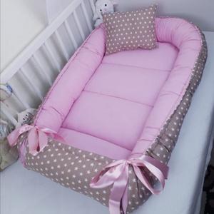Babafészek, Gyerek & játék, Baba-mama kellék, Gyerekszoba, Varrás, A babafészek kényelmes és biztonságos újszülött és néhány hónapos babák számára. A babafészek körülö..., Meska