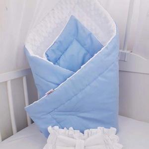 Kék-fehér minky pólya AKCIÓ!, Szett kiságyba, Lakástextil, Otthon & Lakás, Varrás, Kétoldalú pólya, egyik oldal 100% pamutból, a másik pihe-puha MINKY anyagból készült.\nBiztosítja bab..., Meska