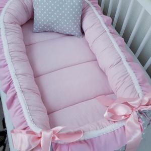 Fodros babafészek, Babafészek, Lakástextil, Otthon & Lakás, Varrás, A babafészek kényelmes és biztonságos újszülött és néhány hónapos babák számára. A babafészek körülö..., Meska