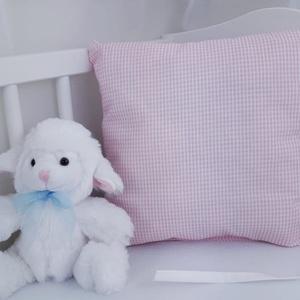 Rácsvédő párna, Párna & Párnahuzat, Lakástextil, Otthon & Lakás, Varrás, Praktikus rácsvédő párna,rózsaszín kockás.\n\nKiságyon kívül is használhatóak a párnák, ha már a baba ..., Meska