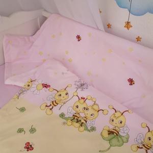 Pihe-puha gyermek takaró+ lapos kispárna, Szett kiságyba, Lakástextil, Otthon & Lakás, Varrás, Pihe-puha takaró, aminek az egyik oldala pamut a másik pedig babyplüss, ez az anyag nagyon kellemes,..., Meska