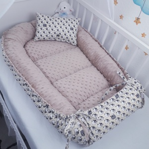 Babafészek pihe-puha minkyvel, Babafészek, Lakástextil, Otthon & Lakás, Varrás, A babafészek kényelmes és biztonságos újszülött és néhány hónapos babák számára. A babafészek körülö..., Meska