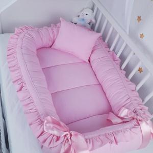 Fodros babafészek, Otthon & Lakás, Babafészek, Lakástextil, A babafészek kényelmes és biztonságos újszülött és néhány hónapos babák számára. A babafészek körülö..., Meska