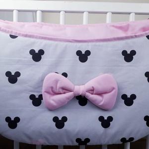 Pelenka tároló Szürke-rózsaszín Mickey , Játéktároló, Tárolás & Rendszerezés, Otthon & Lakás, Varrás, Textil tárolóinkat könnyedén ráfogathatod bármilyen kiságyra,bölcsőre,így kéznél lesz a legszükséges..., Meska