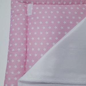 Pelenkázó alátét - rózsazsín csillagos, Otthon & Lakás, Lakástextil, Varrás, Praktikus és kényelmes, 50×70 cm méretű puha felületű pelenkázó alátét. Használatával a baba nem egy..., Meska