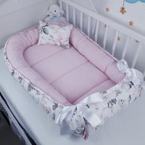 Babafészek - Rózsa -halvány púder - utolsó darab, Otthon & Lakás, Babafészek, Lakástextil, A babafészek kényelmes és biztonságos újszülött és néhány hónapos babák számára. A babafészek körülö..., Meska
