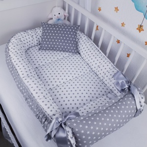 Babafészek Szürke, csillagos, Otthon & Lakás, Lakástextil, Babafészek, Varrás, A babafészek kényelmes és biztonságos újszülött és néhány hónapos babák számára. A babafészek körülö..., Meska