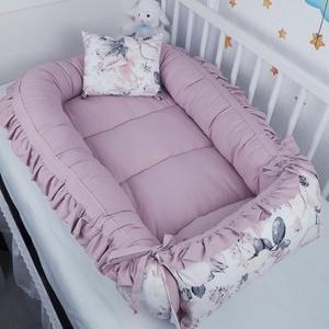 Fodros babafészek, Otthon & Lakás, Lakástextil, Babafészek, Varrás, A babafészek kényelmes és biztonságos újszülött és néhány hónapos babák számára. A babafészek körülö..., Meska