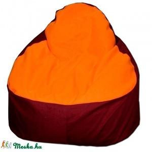 Bordó-narancs babzsák relax felnőtt, Bútor, Otthon & lakás, Lakberendezés, Egyéb, Babzsák, Varrás, Töltődj fel ebben az élénk babzsiban, melyet garantáltan mindenki észre fog venni a lakásodban.\r\nSzé..., Meska