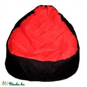 Fekete-piros babzsák relax felnőtt, Bútor, Otthon & lakás, Lakberendezés, Babzsák, Varrás, Klasszikus színösszeállítású babzsi.\r\nSzélesebb és alacsonyabb fazon, kényelmesen el tudsz benne hel..., Meska