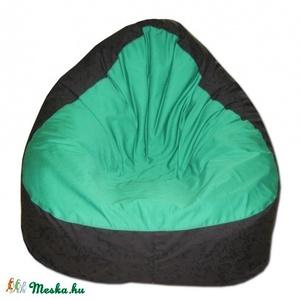 Fekete-zöld babzsákfotel relax felnőtt, Bútor, Otthon & lakás, Lakberendezés, Babzsák, Varrás, Szélesebb és alacsonyabb fazon, kényelmesen el tudsz benne helyezkedni akár meditációs pózban is.\nDu..., Meska