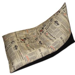 Daily News tüske babzsák, Lakberendezés, Otthon & lakás, Bútor, Szék, fotel, Babzsák, Varrás, Új fazon, különleges, extra minőségű textilből!\nTévézéshez, olvasáshoz, alváshoz éppen tökéletes bab..., Meska