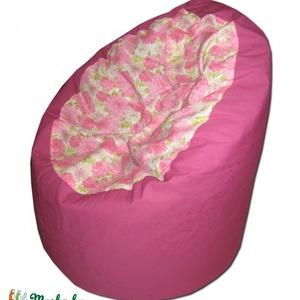 Rózsaszín virágos csupa romantika babzsák, Bútor, Otthon & lakás, Lakberendezés, Babzsák, Varrás, Meseszép anyagot kaptam, rögtön varrtam is belőle egy fotelt, remélem, Téged is elvarázsol! :)\n\nDupl..., Meska