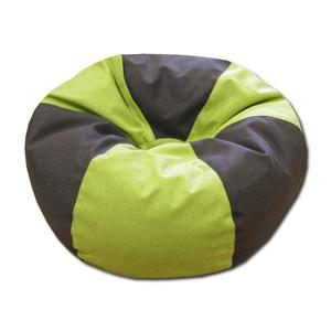 Zöld-sötétbarna babzsákfotel gömböc, Bútor, Otthon & lakás, Babzsák, Varrás, 6 cikkes gömböc formájú babzsákfotel.\nDupla huzatos, strapabíró lakástextilből készült, utántölthető..., Meska