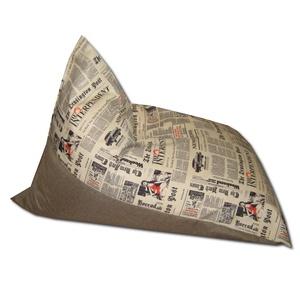 Daily News barna tüske babzsákfotel, Lakberendezés, Otthon & lakás, Bútor, Szék, fotel, Babzsák, Varrás, Alacsony babzsákfotel, tévézéshez, olvasáshoz, alváshoz éppen tökéletes, szuperül megtámasztja a fej..., Meska