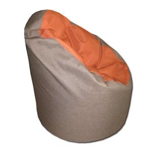 Barna-narancs babzsi, Bútor, Otthon & lakás, Lakberendezés, Babzsák, Varrás, Visszafogott színek, extra minőségű textil, minden környezetbe illik.\nStandard fotel modell.\nDupla h..., Meska