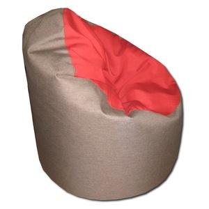 Barna-piros babzsák, Bútor, Otthon & lakás, Lakberendezés, Babzsák, Varrás, Visszafogott színek, extra minőségű textil, minden környezetbe illik.\nStandard fotel modell.\nDupla h..., Meska