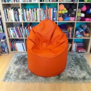 Narancs textilbőr babzsákfotel miniben (GabrielArt) - Meska.hu
