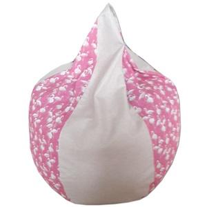 Flamingós-beige csepp alakú babzsi (GabrielArt) - Meska.hu