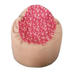 Babzsák flamingó-beige fotel fazon (GabrielArt) - Meska.hu