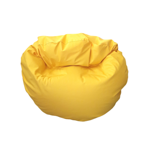 Babzsákfotel sárga, multi, gyerekeknek, Hogy a kisebbek se maradjanak ki a jóból!\nKerek babzsi, sokféle módon használható, persze nem csak g..., Meska
