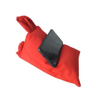 Telefontartó mini nyuszis babzsák piros, Laptop & Tablettartó, Táska & Tok, Varrás, Mini babzsák mobiltelefonodnak, tabletednek, a kényelmesebb használatért, megbolondítva egy kis nyus..., Meska