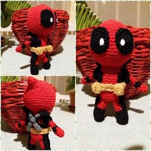 Deadpool figura, Szörnyike, Plüssállat & Játékfigura, Játék & Gyerek, Horgolás, Amigurumi technikával készült Deadpool figura, kb 15 cm nagyságú. , Meska